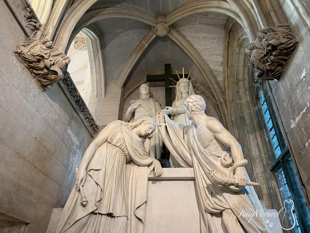 Funeral Monument to the Duke of Enghien by Louis-André Deseine 1825. Sainte-Chapelle. Château de Vincennes, Paris